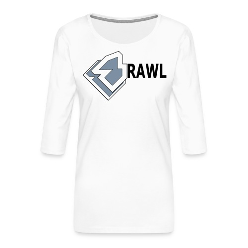 PANDA ONLY LOGO - Vrouwen premium shirt 3/4-mouw