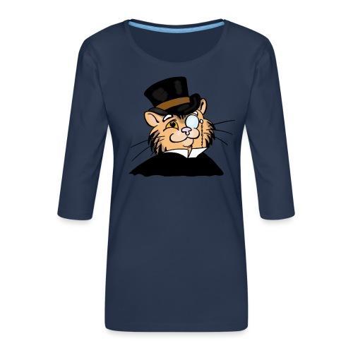 Gatto nonno - Maglietta da donna premium con manica a 3/4