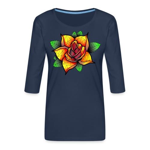 rose - T-shirt Premium manches 3/4 Femme