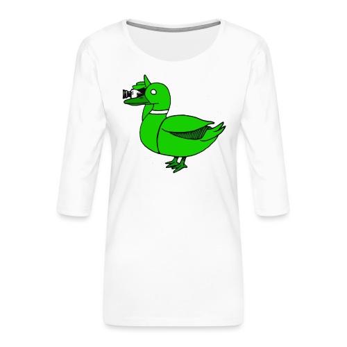 Greenduck Film Just Duck - Dame Premium shirt med 3/4-ærmer