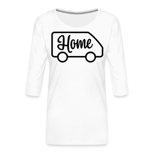 camperhome03a - Premium T-skjorte med 3/4 erme for kvinner