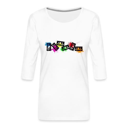 cassettescolor - T-shirt Premium manches 3/4 Femme