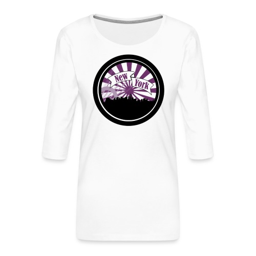 New York City - T-shirt Premium manches 3/4 Femme