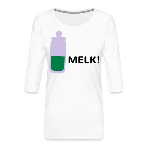 Grappige Rompertjes: Melk - Vrouwen premium shirt 3/4-mouw
