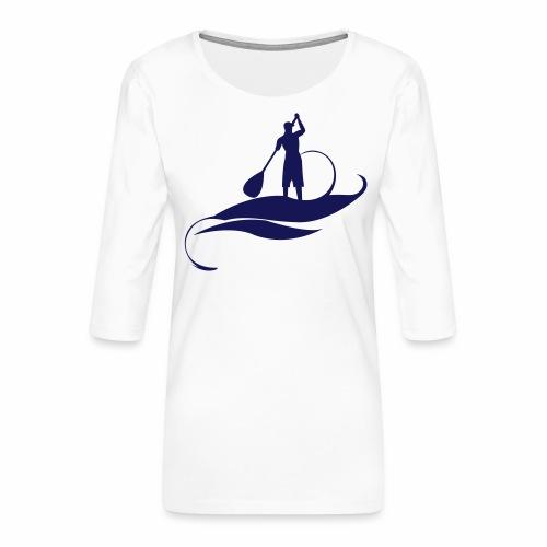 Paddle man casquette - T-shirt Premium manches 3/4 Femme