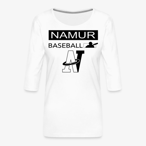 LOGO_002 - T-shirt Premium manches 3/4 Femme