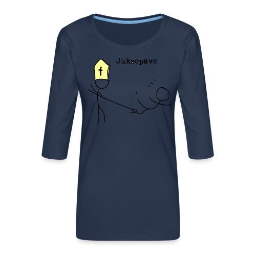 juksepave png - Premium T-skjorte med 3/4 erme for kvinner