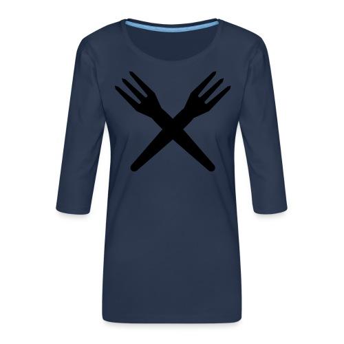 gekruiste frietvorken - trident - T-shirt Premium manches 3/4 Femme