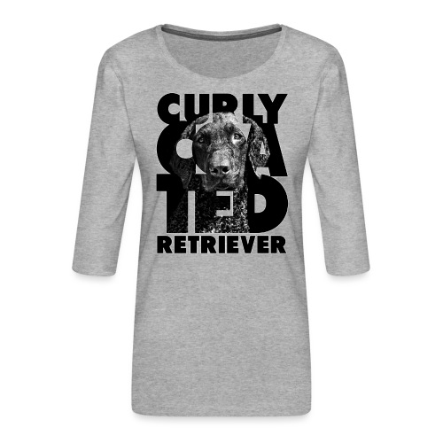 Curly Coated Retriever II - Naisten premium 3/4-hihainen paita