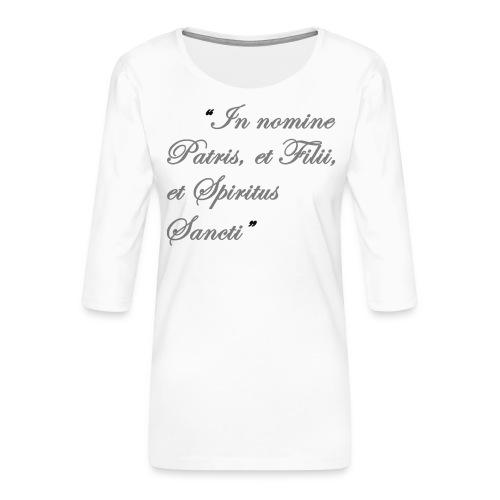 gebed nieuw png - Vrouwen premium shirt 3/4-mouw