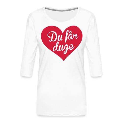 Ekte kjærlighet - Det norske plagg - Premium T-skjorte med 3/4 erme for kvinner