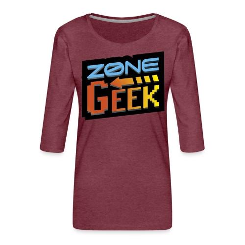 NEW Logo T-Shirt Femme - T-shirt Premium manches 3/4 Femme