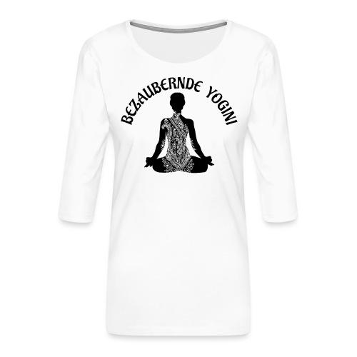 Bezaubernde Yogini - Frauen Premium 3/4-Arm Shirt