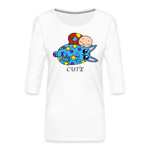 Bébé et Bilidou - T-shirt Premium manches 3/4 Femme