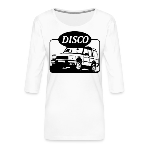 landroverdisco01dblack - Premium T-skjorte med 3/4 erme for kvinner