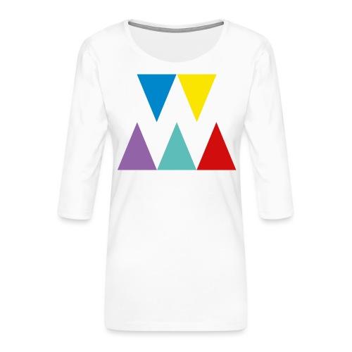 Logo We are les filles - T-shirt Premium manches 3/4 Femme