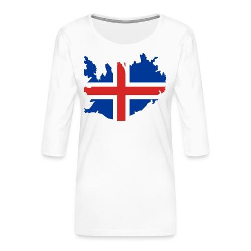 Iceland - Vrouwen premium shirt 3/4-mouw