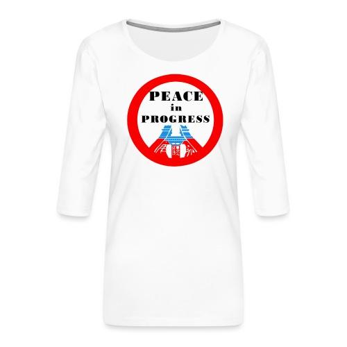 Peace in Progress - Koszulka damska Premium z rękawem 3/4