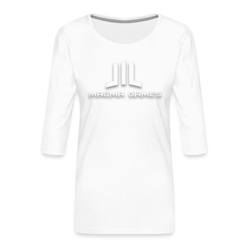 Magma Games mok zwart met - Vrouwen premium shirt 3/4-mouw