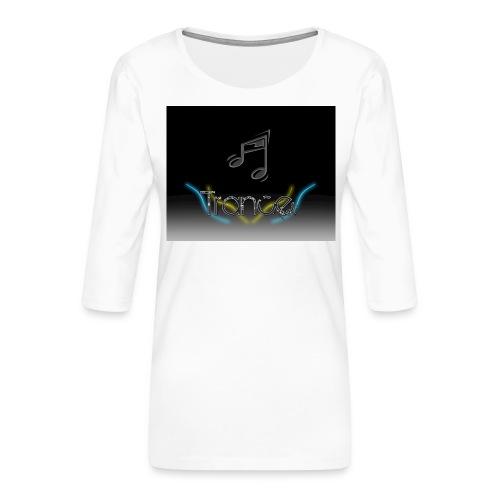 trance_wallpaper_by_peixotorj-jpg - Dame Premium shirt med 3/4-ærmer