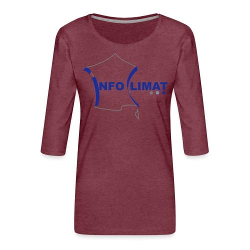 logo simplifié - T-shirt Premium manches 3/4 Femme