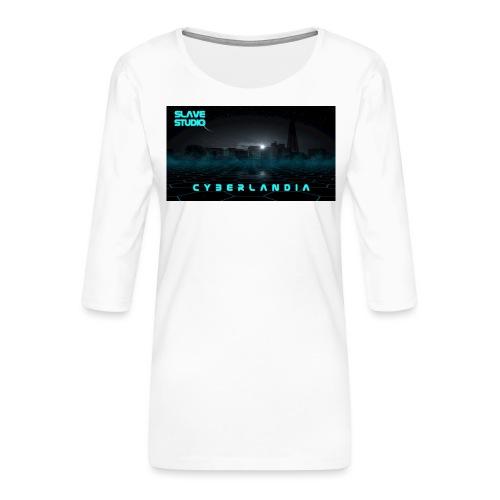 Cyberlandia - Maglietta da donna premium con manica a 3/4