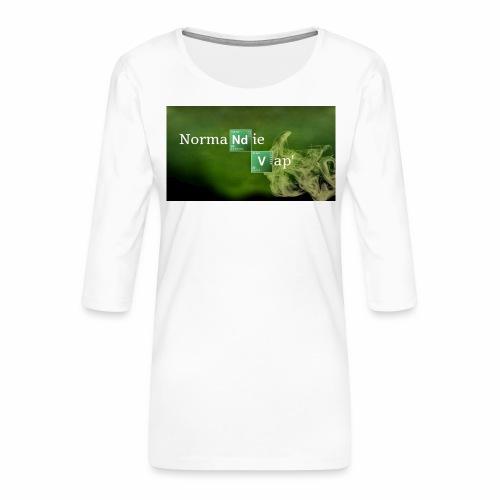 Normandie Vap' - T-shirt Premium manches 3/4 Femme