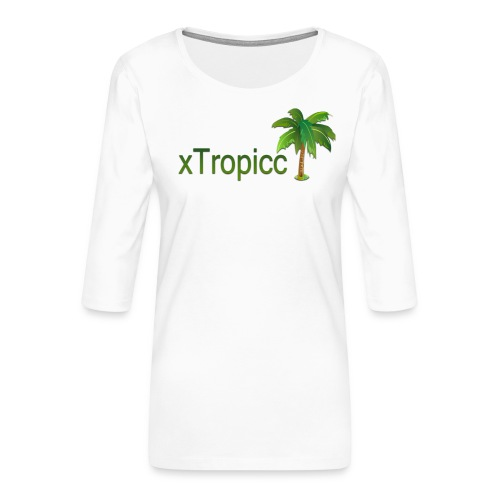tropicc - T-shirt Premium manches 3/4 Femme