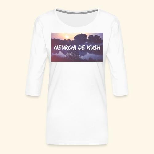 🌼🔥🍁☘️ - T-shirt Premium manches 3/4 Femme