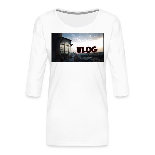 Vlog - Women's Premium 3/4-Sleeve T-Shirt