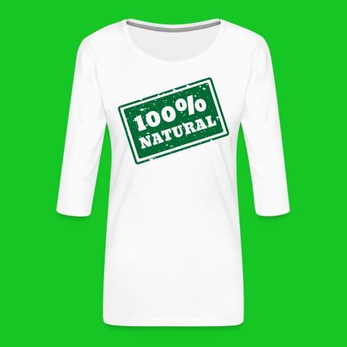 100% natural PNG - Vrouwen premium shirt 3/4-mouw