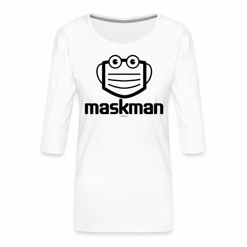 Maskman - Vrouwen premium shirt 3/4-mouw