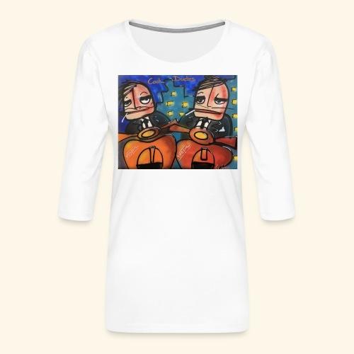 Cool dudes - Vrouwen premium shirt 3/4-mouw