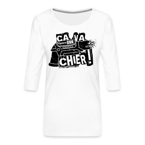 gastrogun - T-shirt Premium manches 3/4 Femme