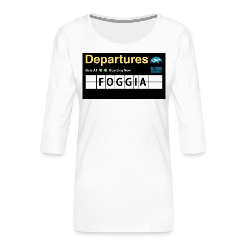 foggia png - Maglietta da donna premium con manica a 3/4