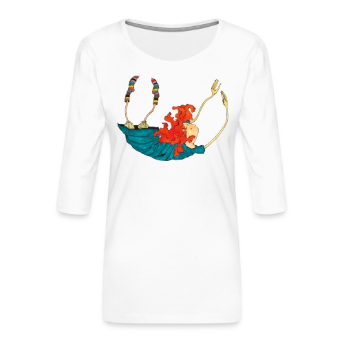 Frit fald - Dame Premium shirt med 3/4-ærmer