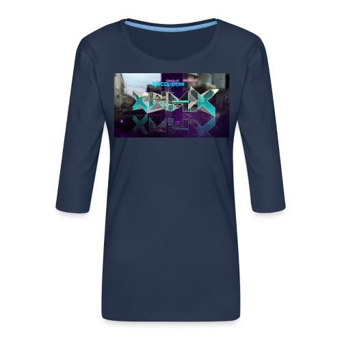 XZWhModzZX - Dame Premium shirt med 3/4-ærmer