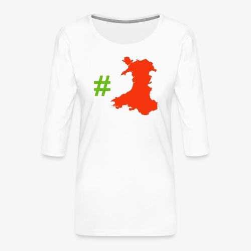 Hashtag Wales - Women's Premium 3/4-Sleeve T-Shirt