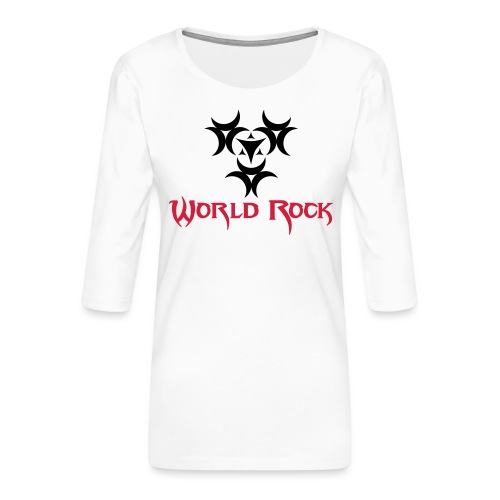 Motif World Rock - T-shirt Premium manches 3/4 Femme