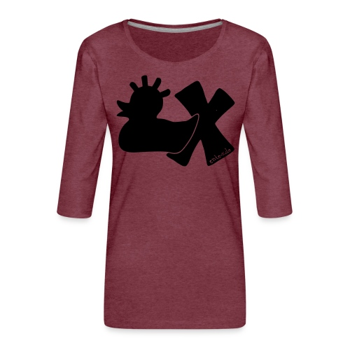 PunkEnte mit X v3.3 - Frauen Premium 3/4-Arm Shirt