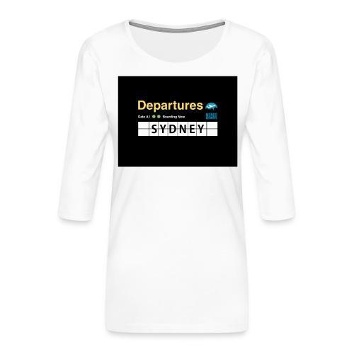 SYDNEY png - Maglietta da donna premium con manica a 3/4