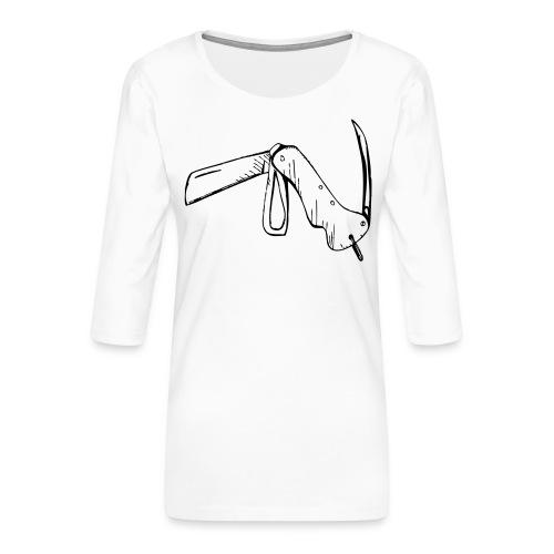 jacknife - Maglietta da donna premium con manica a 3/4