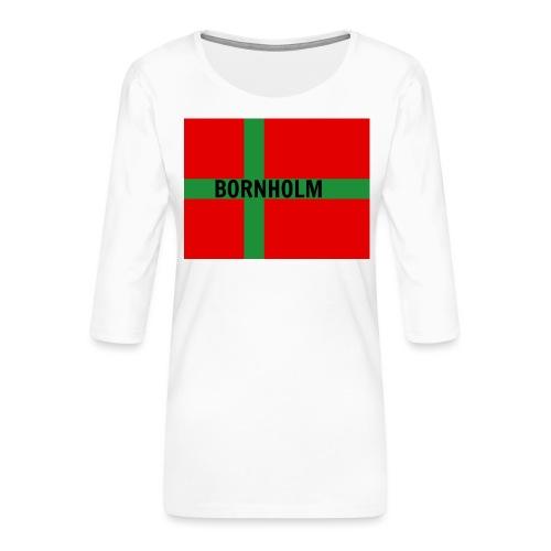 BORNHOLM - Dame Premium shirt med 3/4-ærmer