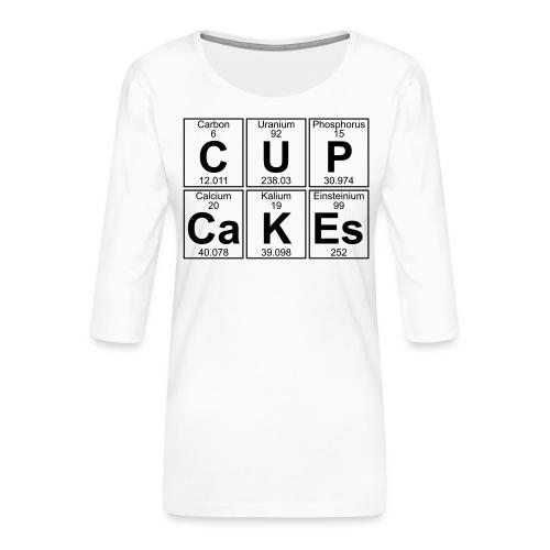 C-U-P-Ca-K-Es (cupcakes) - Full - Women's Premium 3/4-Sleeve T-Shirt