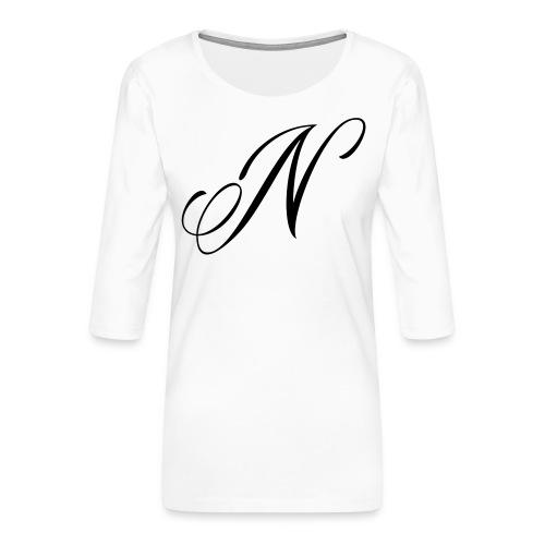 NUTTELOGO2NEW - Women's Premium 3/4-Sleeve T-Shirt