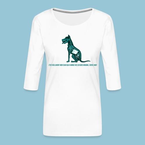 T-shirt pour homme imprimé Chien au Rayon-X - T-shirt Premium manches 3/4 Femme