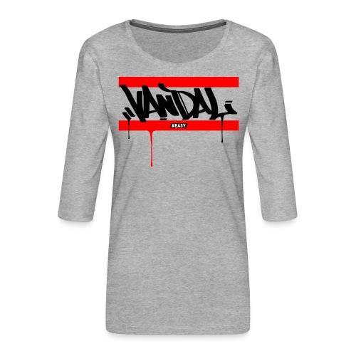 #EASY Graffiti Vandal T-Shirt - Maglietta da donna premium con manica a 3/4