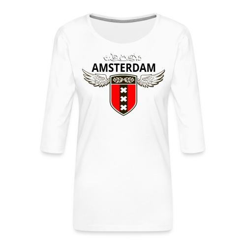 Amsterdam Netherlands - Frauen Premium 3/4-Arm Shirt