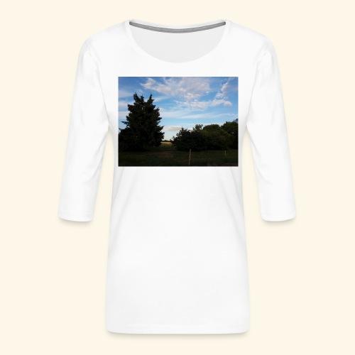 Feld mit schönem Sommerhimmel - Frauen Premium 3/4-Arm Shirt