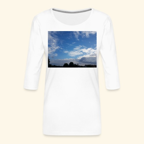 himmlisches Wolkenbild - Frauen Premium 3/4-Arm Shirt